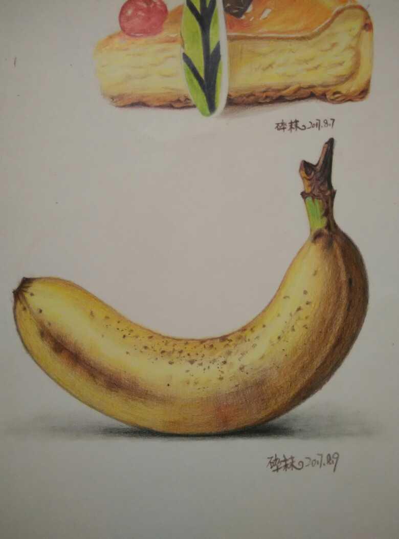 【彩铅】香蕉